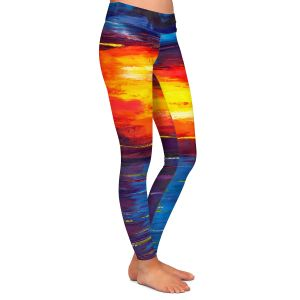 Casual Comfortable Leggings | Jessilyn Park - Sunset at Lighthouse