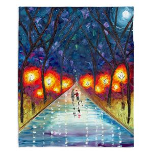 Decorative Fleece Throw Blankets | Jessilyn Park - The Night We Fell in Love