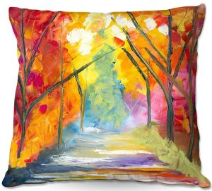 Throw Pillows Decorative Artistic | Jessilyn Park - The Road Less Traveled