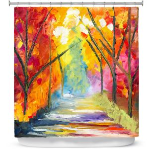 Unique Shower Curtain from DiaNoche Designs by Jessilyn Park - The Road Less Traveled
