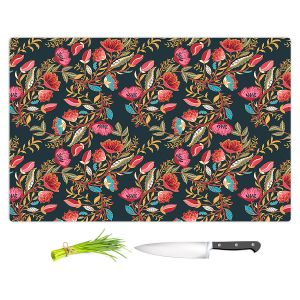 Artistic Kitchen Bar Cutting Boards | Jill O Connor - Indian Nights | Floral, Flowers