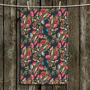 Unique Hanging Tea Towels | Jill O Connor - Indian Nights | Floral, Flowers