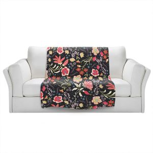 Artistic Sherpa Pile Blankets | Jill O Connor - Indian Summer | Floral, Flowers