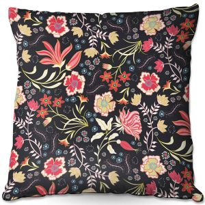 Decorative Outdoor Patio Pillow Cushion | Jill O Connor - Indian Summer | Floral, Flowers