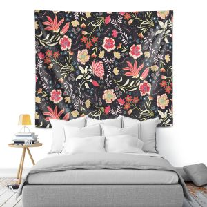 Artistic Wall Tapestry | Jill O Connor - Indian Summer | Floral, Flowers