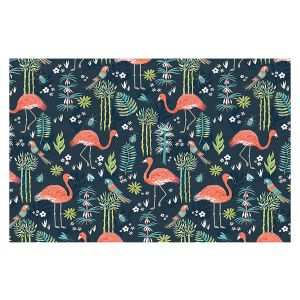 Decorative Floor Covering Mats | Jill O Connor - Painted Flamingos | Floral, Flowers,animals, parrot, pattern