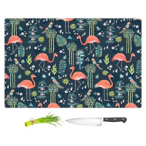Artistic Kitchen Bar Cutting Boards   Jill O Connor - Painted Flamingos   Floral, Flowers,animals, parrot, pattern