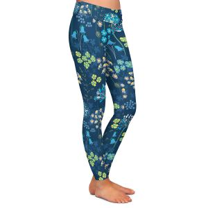 Casual Comfortable Leggings   Jill O Connor - Poppies Agapanthus   Floral, Flowers