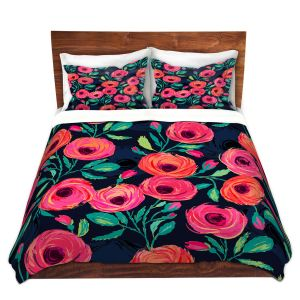 Artistic Duvet Covers and Shams Bedding | Jill O Connor - Rose Garden | Floral, Flowers