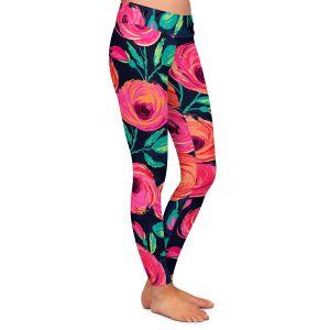 Casual Comfortable Leggings | Jill O Connor - Rose Garden | Floral, Flowers