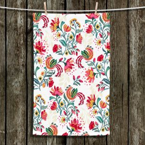 Unique Hanging Tea Towels | Jill O Connor - Scandinavian Festiv Floral | Floral, Flowers