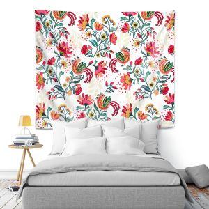Artistic Wall Tapestry | Jill O Connor - Scandinavian Festiv Floral | Floral, Flowers