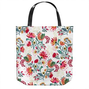 Unique Shoulder Bag Tote Bags | Jill O Connor - Scandinavian Festiv Floral | Floral, Flowers