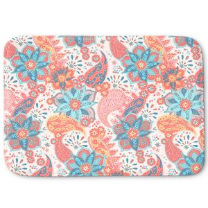 Decorative Bathroom Mats | Jill O Connor - Summer Boho | Floral, Flowers, pattern