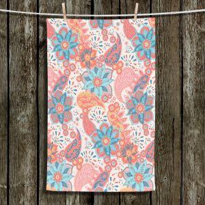Unique Bathroom Towels | Jill O Connor - Summer Boho | Floral, Flowers, pattern