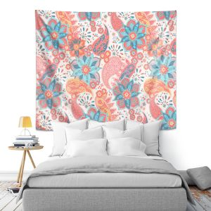 Artistic Wall Tapestry | Jill O Connor - Summer Boho | Floral, Flowers, pattern