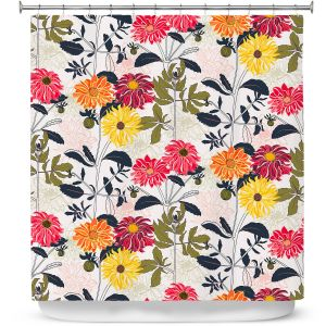 Premium Shower Curtains | Jill O Connor - The Dahlia Page | Floral, Flowers