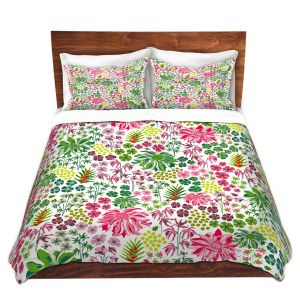 Artistic Duvet Covers and Shams Bedding | Jill O Connor - Tropical Botanical | Floral, Flowers