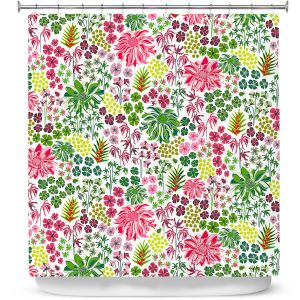 Premium Shower Curtains | Jill O Connor - Tropical Botanical | Floral, Flowers