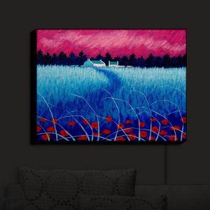 Nightlight Sconce Canvas Light   John Nolan - Blue Meadow   surreal landscape grass flowers