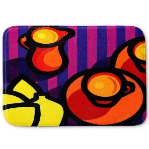 Decorative Bathroom Mats | John Nolan - Coffee Cups | pop art shapes pattern