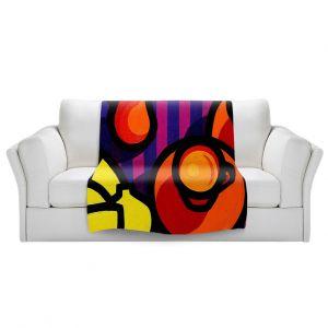 Artistic Sherpa Pile Blankets | John Nolan - Coffee Cups | pop art shapes pattern