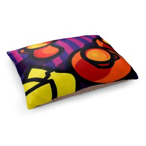 Decorative Dog Pet Beds | John Nolan - Coffee Cups | pop art shapes pattern