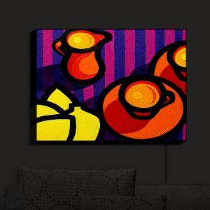 Nightlight Sconce Canvas Light | John Nolan - Coffee Cups | pop art shapes pattern