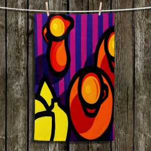 Unique Hanging Tea Towels | John Nolan - Coffee Cups | pop art shapes pattern