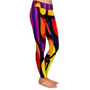 Casual Comfortable Leggings | John Nolan - Coffee Cups | pop art shapes pattern