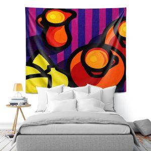 Artistic Wall Tapestry | John Nolan - Coffee Cups | pop art shapes pattern
