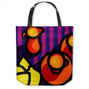 Unique Shoulder Bag Tote Bags | John Nolan - Coffee Cups | pop art shapes pattern