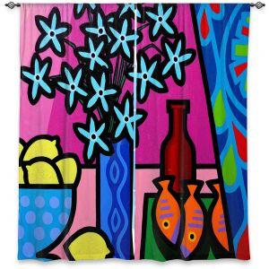 Decorative Window Treatments | John Nolan - Curtain | still life bottle vase lemon
