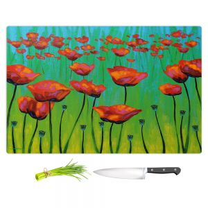 Artistic Kitchen Bar Cutting Boards | John Nolan - Dancing Daffodils