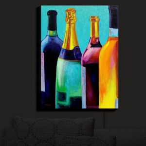 Nightlight Sconce Canvas Light | John Nolan - Four Wine Bottles