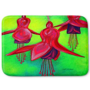 Decorative Bathroom Mats | John Nolan - Fuchsia Trio | flower nature still life