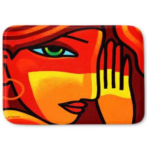 Decorative Bathroom Mats | John Nolan - Green Eyes | people portrait surreal abstract