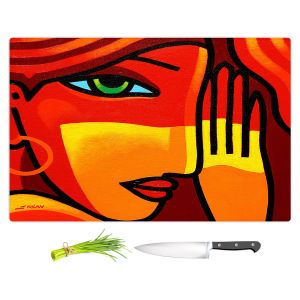 Artistic Kitchen Bar Cutting Boards   John Nolan - Green Eyes   people portrait surreal abstract