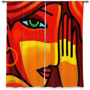 Decorative Window Treatments | John Nolan - Green Eyes | people portrait surreal abstract