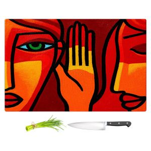Artistic Kitchen Bar Cutting Boards | John Nolan - Hear Me Now | people portrait surreal abstract