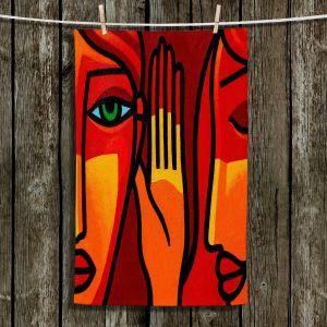 Unique Hanging Tea Towels | John Nolan - Hear Me Now | people portrait surreal abstract