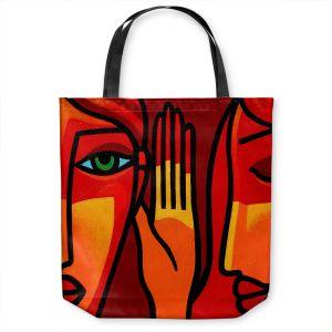 Unique Shoulder Bag Tote Bags   John Nolan - Hear Me Now   people portrait surreal abstract