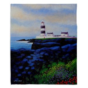 Decorative Fleece Throw Blankets | John Nolan - Hook Lighthouse l