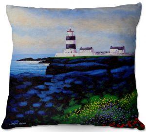 Decorative Outdoor Patio Pillow Cushion | John Nolan - Hook Lighthouse l