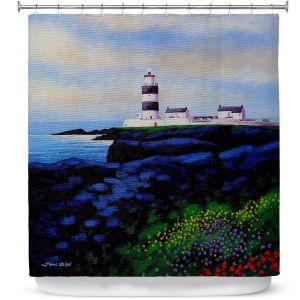 Premium Shower Curtains | John Nolan - Hook Lighthouse l