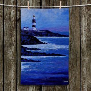 Unique Hanging Tea Towels | John Nolan - Hook Lighthouse ll | Seascapes Beach Waterfront
