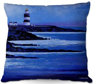 Throw Pillows Decorative Artistic | John Nolan - Hook Lighthouse ll