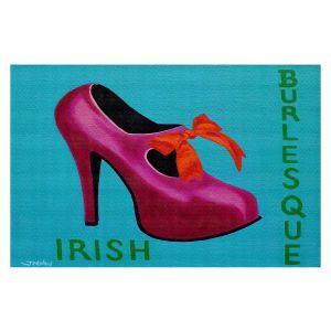 Decorative Floor Covering Mats   John Nolan - Irish Burlesque Shoe   Stamp heel still life close up Ireland