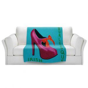 Artistic Sherpa Pile Blankets | John Nolan - Irish Burlesque Shoe | Stamp heel still life close up Ireland