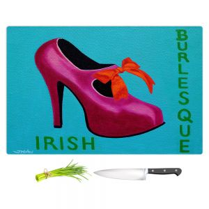 Artistic Kitchen Bar Cutting Boards | John Nolan - Irish Burlesque Shoe | Stamp heel still life close up Ireland